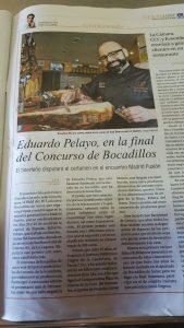 Eduardo Pelayo en la final del Concurso de Bocadillos