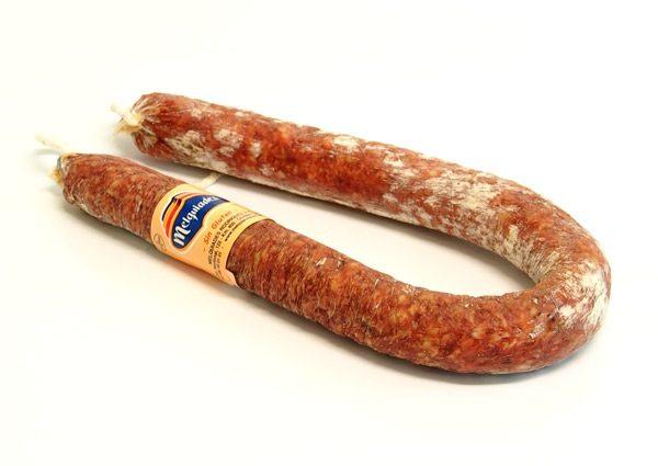Thin extra salami sausage