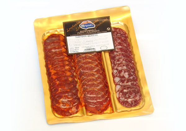 Selection of sliced Iberian products
