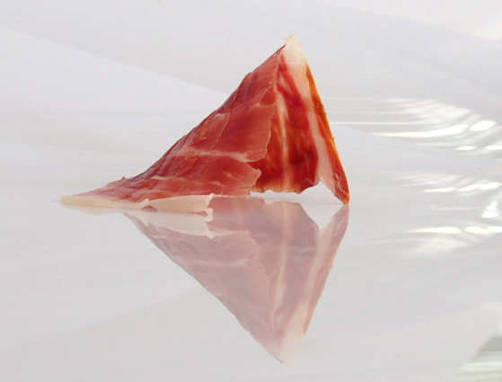 Knife-sliced Iberian acorn-fed ham