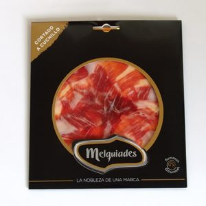 Knife-sliced Iberian acorn-fed ham