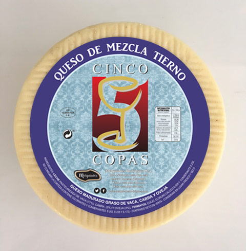 """Cinco de Copas"" soft mixed-milk cheese"