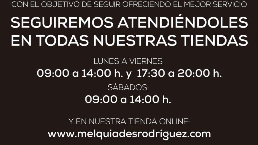 Comunicado sobre la actividad de Melquiades Rodríguez durante el Estado de Alarma