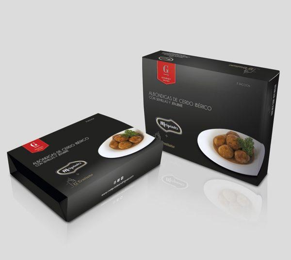 Caja de Albóndigas de cerdo Ibérico con semillas y jengibre